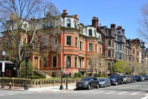 Boston homes and brownstones